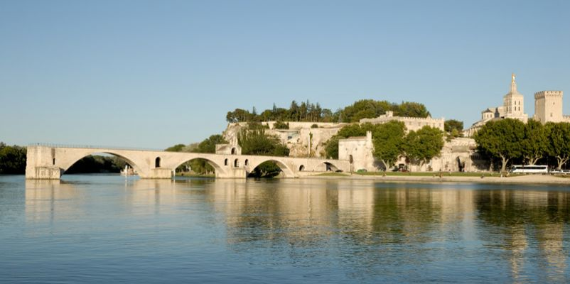The Saint Benezet bridge on Rhone river in Avignon