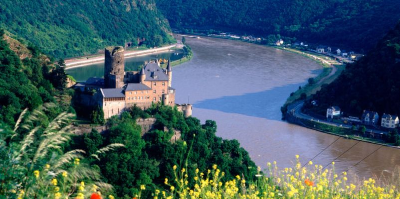 Castle Katz in the Rhine Valley