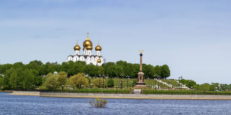 The Assumption Cathedral along river Volga
