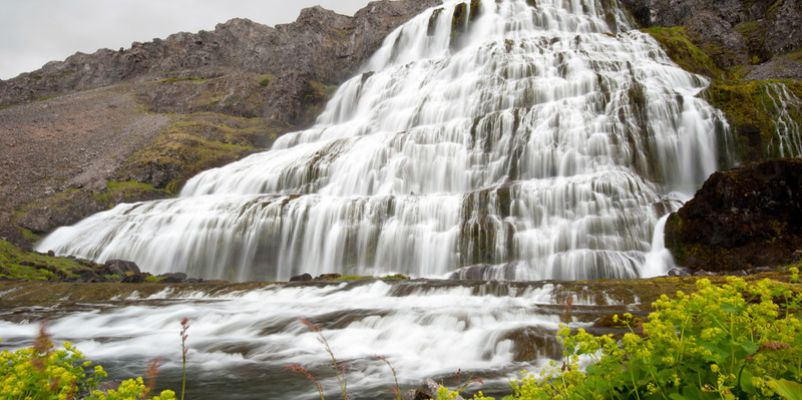 Waterfall at Westfjords Iceland