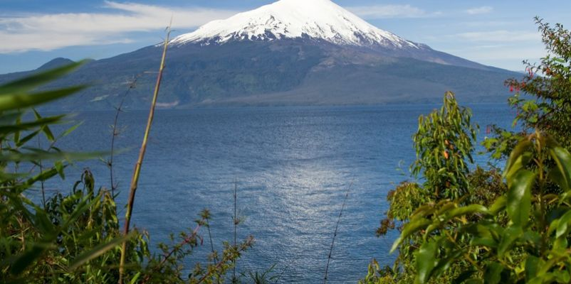 Volcano Osorno and Lago Llanquihue in Chile