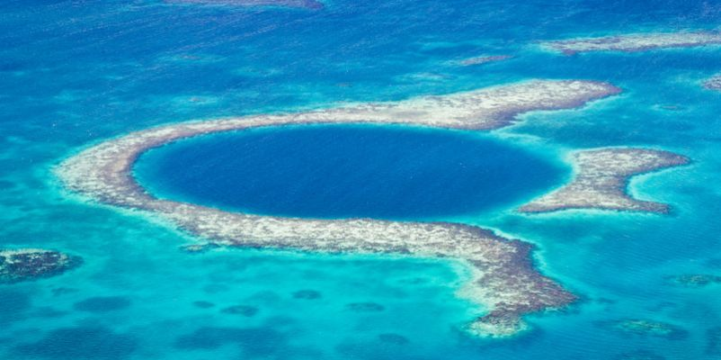 The Great Blue Hole of the coast of Belize