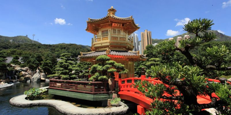 Golden Pavilion of Chi Lin Nunnery, Hong Kong