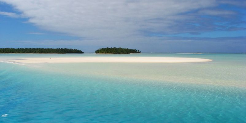 Sand bank near One Foot Island, Aitutaki, Cook Islands