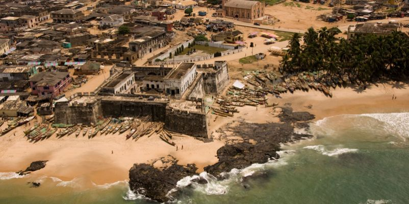 Fort between Accra and Takoradi, Ghana