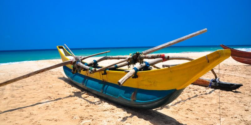 Boat in the beautiful beach