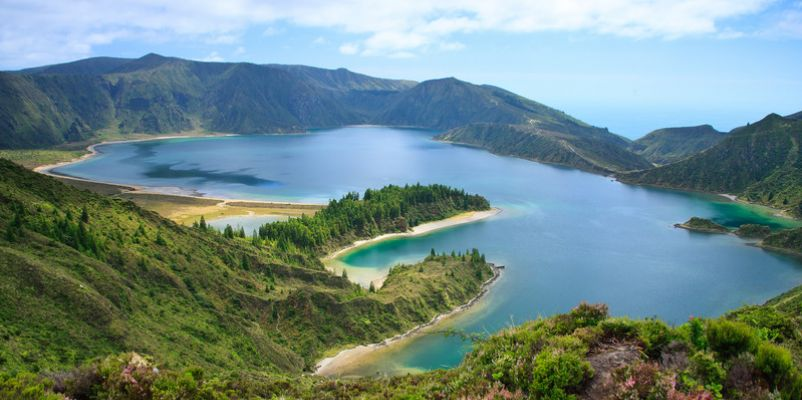 Lagoa do Fogo - volcanic lake in Sao Miguel, Azores