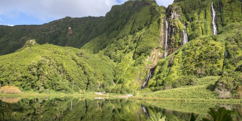 Waterfalls on Flores island, Azores