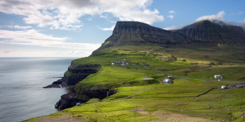 Remote village of Gasadalur, Faroe Islands
