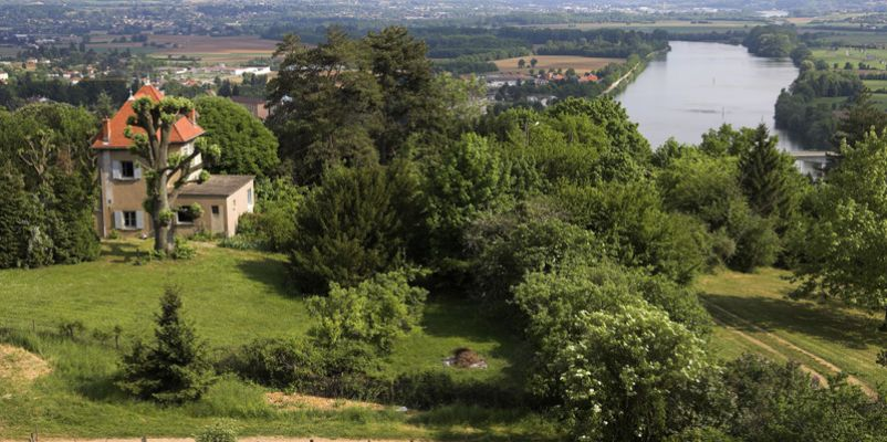 View of River Saone, Burgundy, France