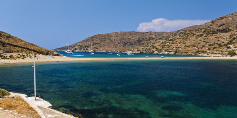 Kolona beach in Kythnos island, Cyclades