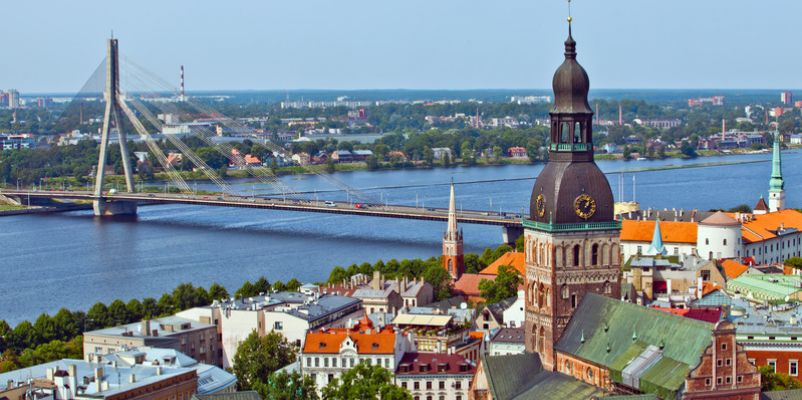 Riga Cathedral and city skyline