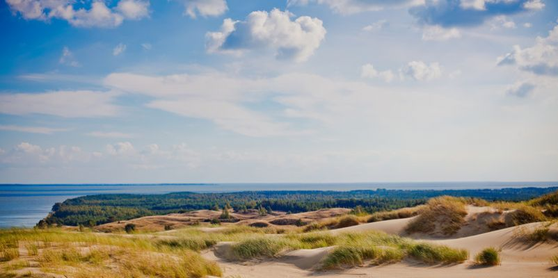 The Curonian Spit in Nida, Neringa, Lithuania