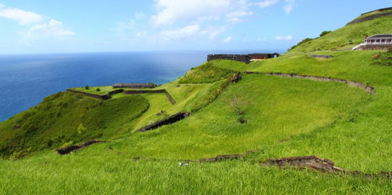 Coastline at Brimstone Hill Fortress, St Kitts