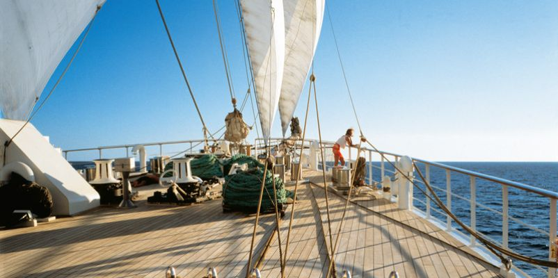 Sea Cloud II - On deck