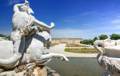 The Neptune Fountain and Schonbrunn Palace, Vienna