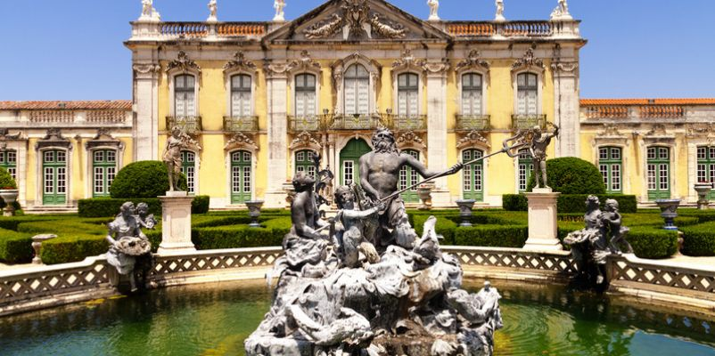 Queluz Palace and the Neptune fountain