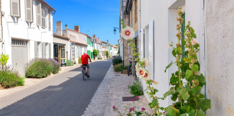 The pretty village of Ars en Re on the Ile de Ré