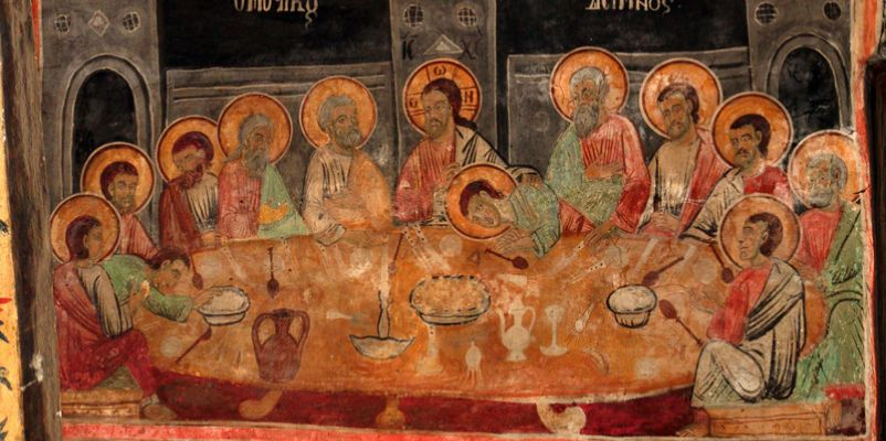 Fresco of the Last Supper, St Naum Monastery, Macedonia