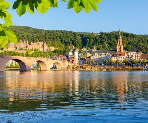Bridge over the Neckar River in Heidelberg