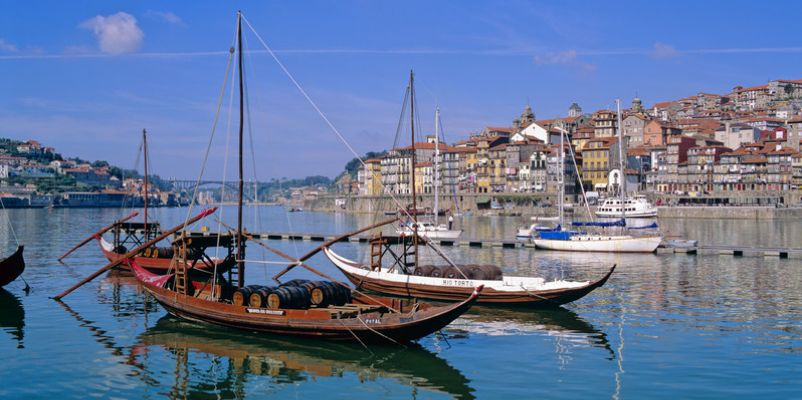 Rabelo boats on River Douro