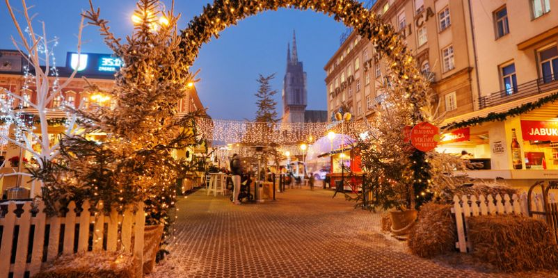 Christmas market in Ban Jelacic Square