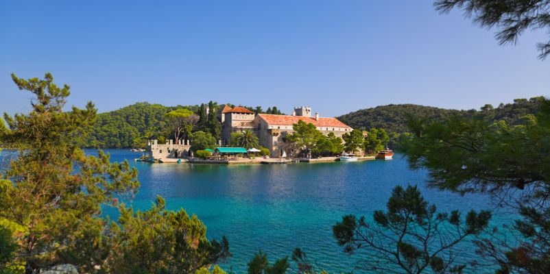 The monastery in Mljet National Park