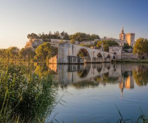 Palais des Papes and Pont Saint Benezet, Avignon