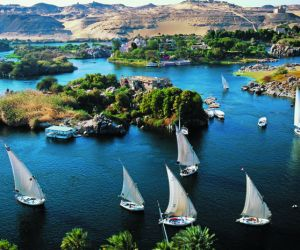 Feluccas on the Nile at Aswan