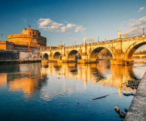Saint Angel Castle and bridge over the Tiber