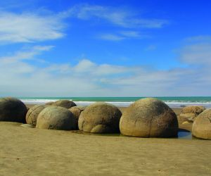 Boulders on Moeraki Beach