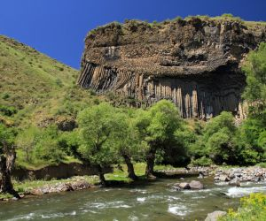Symphony of Stones basalt columns and the Azat River Gorge