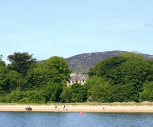 The beach at Rathmullan House and Lough Swilly