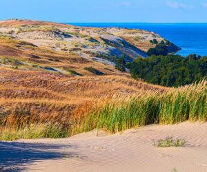 Rugged landscape of the Curonian Spit, Lithuania
