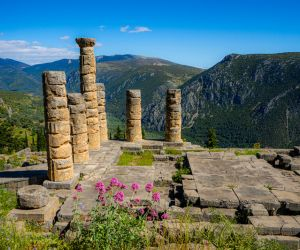Remains of the Temple of Apollo at Delphi