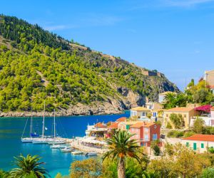 Picturesque fishing village of Assos, Cephalonia
