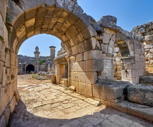 Inside the Roman amphitheatre at Xanthos