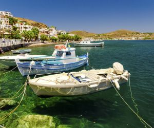 Picturesque Skala harbour