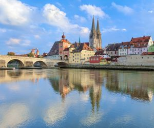 Regensburg Cathedral and the Old Stone Bridge