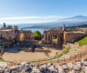 The Greek Theatre overlooking Mount Etna, Taormina